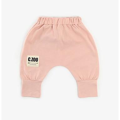 d265260a5f6 Μωρό Κοριτσίστικα Ενεργό Καθημερινά Μονόχρωμο Μακρυμάνικο Πολυεστέρας Κολάν  Ανθισμένο Ροζ / Νήπιο