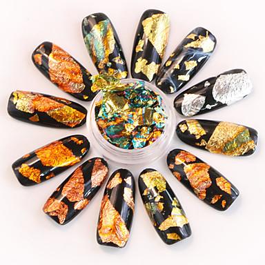 Bellissimo 12 Pcs Adesivo Stagnola Creativo Manicure Manicure Pedicure Sicurezza Alla Moda - Colorato Quotidiano #06884273