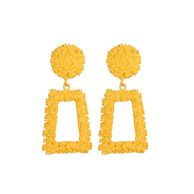 abordables Boucle d'Oreille-Femme Boucle d'Oreille Pendantes Créatif dames Géométrique Hyperbole Elégant énorme Des boucles d'oreilles Bijoux Argent / Jaune / Rouge Pour Soirée Plein Air Bar 1 paire