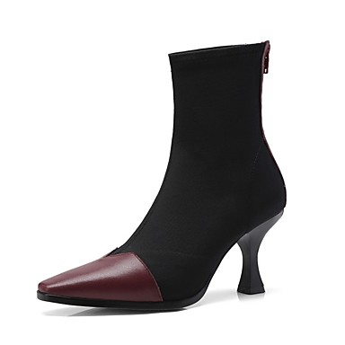 Automne Vin Bottes Femme Nappa Cuir Bobine Confort hiver Chaussures 06857256 Amande Noir Talon Srvtvnxqw