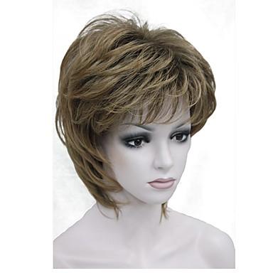 8f9bdde5c9f3c رخيصةأون باروكات و ووصلات شعر-الاصطناعية الباروكات مستقيم أسلوب قصة شعر  Pixie دون غطاء شعر