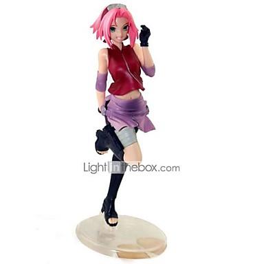 levne Anime akční figurky-Anime Čísla akce Inspirovaný Naruto Sakura Haruno PVC 22 cm CM Stavebnice Doll Toy