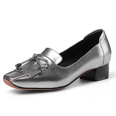 Rouge Automne Chaussures Talons Confort Talon Nappa Bottier à Chaussures Femme Argent Cuir 06848328 Noir t1dw7q7
