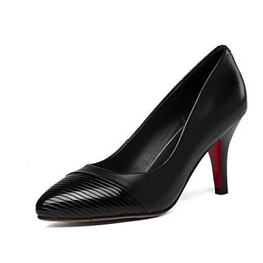 Noir 06843360 Gris Cuir Femme Chaussures Chaussures Confort Talons Aiguille à Automne Nappa Rouge Talon SHFOHWvq