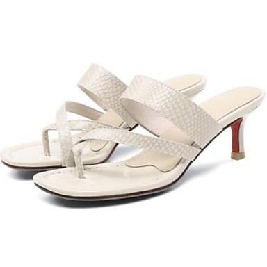 Nappa Cuir ouvert Femme Escarpin Basique 06843240 Aiguille Eté Chaussures Beige Confort Rose Printemps Vert Bout Sandales Talon qFBgEB