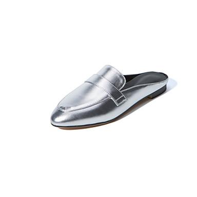 Talon 06862486 Chaussons Or D6148 Printemps Plat Argent été Noir Confort et Chaussures Microfibre Mocassins Femme A6qzTw