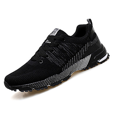Men's Mesh Summer Comfort Athletic Shoes Walking Shoes Color Block Black Black / White / Black Block / Red 99f454