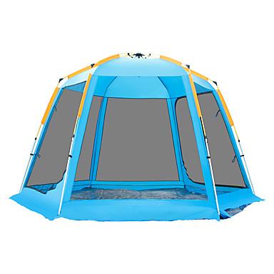 TANXIANZHE® 6 persona Tienda con pantalla protectora Tienda caseta Al aire libre Resistente al Viento Resistente a los rayos UV Resistente a la lluvia Doble Capa Automático Carpa para camping