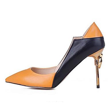06857132 Escarpin Automne à Talon Amande Confort Printemps Nappa Chaussures Aiguille Basique amp; Chaussures Orange Cuir Talons Femme Fuchsia TC01qn