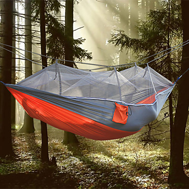 1 Camping Hammock with Mosquito Net Collapsible Anti-Mosquito Nylon for Camping Camping / Hiking / Caving Outdoor