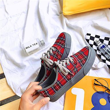 Zapatillas Mujer Plano Confort 06855685 Otoño Zapatos redondo PU de deporte Tacón Rojo Dedo Gris BqSIfBrwx8