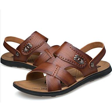 Homme Chaussures Chaussures Chaussures de confort Polyuréthane Eté Décontracté  s Brun claire / Brun Foncé e5d3d0
