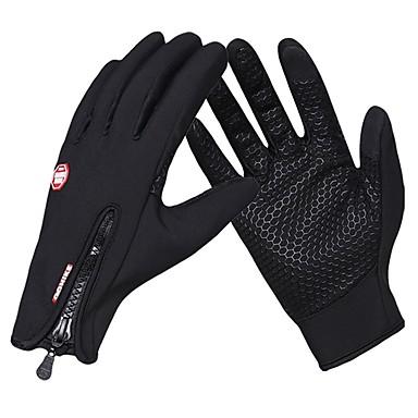 ieftine Mănuși de Ciclism-Mănuși de Iarnă Mănuși pentru ciclism Ecran tactil Keep Warm Rezistent la Vânt Respirabil Mănușă Touchscreen Activități/ Mănuși de sport Iarnă Lână Gel de silicon Ciclism montan Negru Fucsia pentru