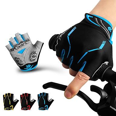 CoolChange Γάντια ποδηλασίας Αθλητισμός Χωρίς Δάχτυλα Σούπερ λεπτό Wicking Ελαστικό Μαύρο / Κόκκινο Μαύρο / Μπλε Μαύρο / Κίτρινο 100% Πολυέστερ poly ουρεθάνη Γέλη σιλικόνης