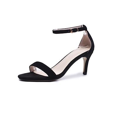 Noir Gris Confort Aiguille Sandales Chaussures Printemps Rose Daim 06846156 Femme été Talon n48qTzw8RO