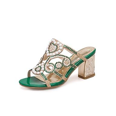 Amande été Talon 06850237 Confort Sandales hétérotypique Polyuréthane Printemps Vert Chaussures Femme wqOStzx
