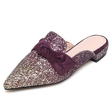 Eté Bleu Talon Chaussures Mules Noir Violet 06848181 fermé amp; Matière Femme Confort Plat Sabot Printemps synthétique Bout wpqIqzdxZ