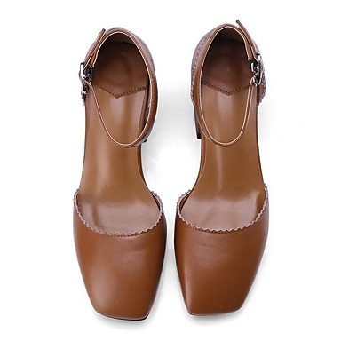 Talons Femme Chaussures Marron Chaussures Bottier Cuir Nappa à Talon 06848685 Noir Confort Eté 04T0xwq6
