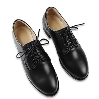 des chaussures en - cuir nappa - en printemps et automne confort oxfords block talon noir 78b644