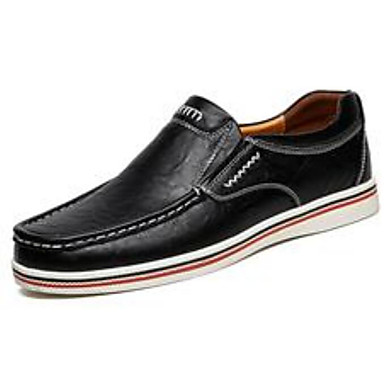 Men's Comfort Shoes PU(Polyurethane) Spring &  Fall Loafers Brown & Slip-Ons Black / Brown Loafers / Blue b6be35