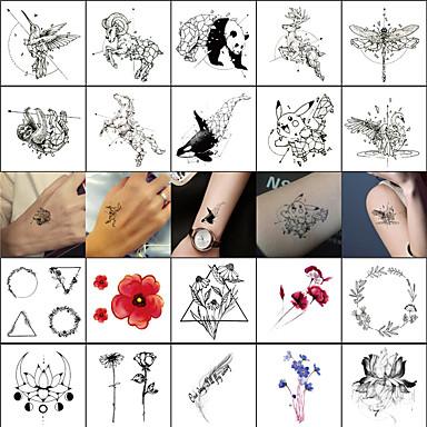 40 Pcs Tatuaggi Temporanei Serie Totem - Serie Animali Adesivo Liscio - Sicurezza Arti Del Corpo Viso - Corpo - Polso - Tatuaggi Temporanei Stile Decalcomania #06862384
