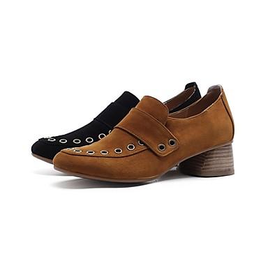 Femme Daim Foncé Brun à Talon Automne Talons Chaussures Confort Basique Noir Chaussures Bottier 06849754 Escarpin AAxwqT5Or