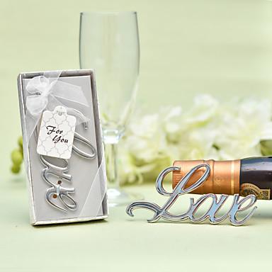 abordables Botellas de Regalo-Sin personalizar Acero inoxidable / Cromo Abridor de Botella / Botella Favor Tema Clásico / Romance / Boda Botella para regalo