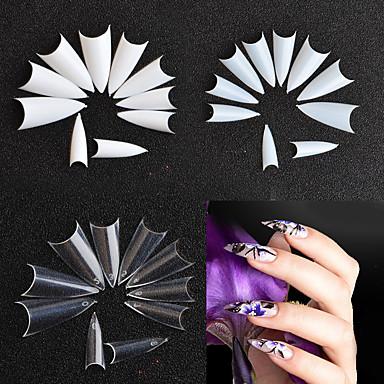voordelige Nagelgereedschap & Apparatuur-500stuks False Nails Voor Vingernagel Creatief / Multi-ontwerp Nagel kunst Manicure pedicure Eenvoudig / Geometrisch patroon / Retro Feest / Alledaagse kleding