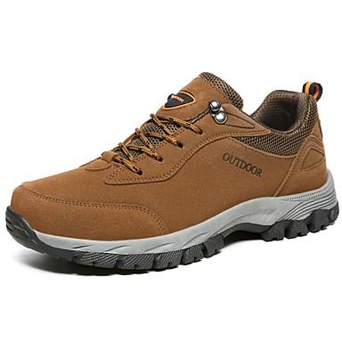 Muškarci Udobne cipele PU Jesen Atletičarke tenisice Hodanje Braon / Tamno siva / Vojska Green