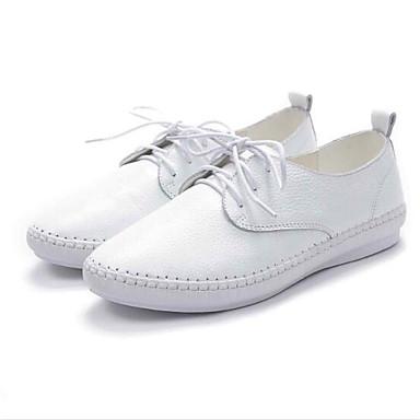 Noir Chaussures Confort fermé Bout Nappa Eté Talon Oxfords Plat Rose 06841685 Femme Cuir Blanc Printemps 7vxqwFzdX