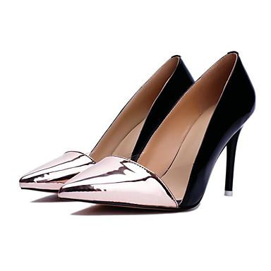 Confort à Argent Or Chaussures 06841110 Cuir Rouge Aiguille Talon Nappa Femme Automne Chaussures Basique Talons Escarpin OInq78aw