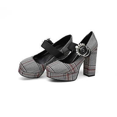 Chaussures Marron 06841641 Printemps Femme Toile Confort Chaussures à Talons Noir Mary Bottier Talon Jane d7xROx