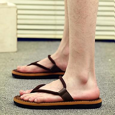 Men's Coffee PU(Polyurethane) Summer Comfort Slippers & Flip-Flops Coffee Men's / Red / Blue b7e94a