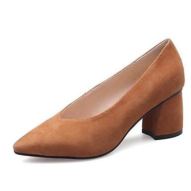 Marron Noir Daim 06848554 Confort Talons à Chaussures Bottier Rouge Chaussures Femme Talon Printemps ZRxq5vz