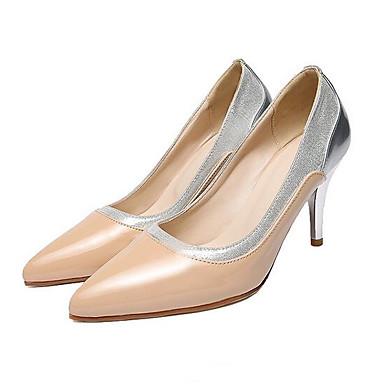 06848546 Mujer Almendra Stiletto Rojo Tacones Primavera Negro Zapatos PU Tacón Confort cTWAcS7