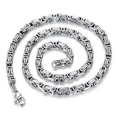 voordelige Herensieraden-Heren lange ketting Enkele Draad Creatief Rock Koreaans Titanium Staal Zilver 60 cm Kettingen Sieraden 1pc Voor Dagelijks