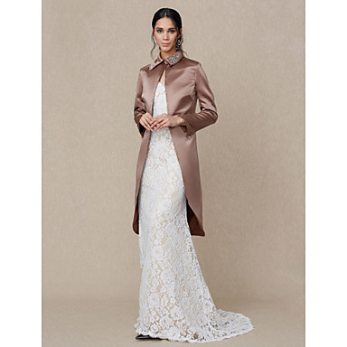 Satin Wedding / Party / Evening Women's Wrap With Rhinestone Coats / Jackets