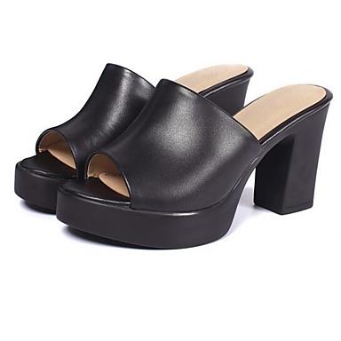 Cuir Bottier Femme Confort Nappa Talon Sandales Noir Printemps 06862197 Chaussures P0Uqnw05