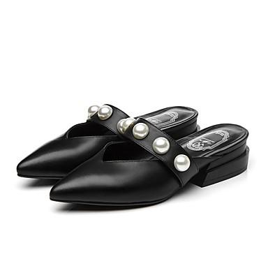 amp; Nappa Sabot Mules 06864564 Cuir Eté Confort Femme Bottier Noir Chaussures Talon Blanc YEqwSS
