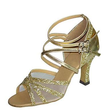 cc7d990a4e1d Žene Cipele za latino plesove Saten Sandale   Štikle Deblja visoka  potpetica Moguće personalizirati Plesne cipele