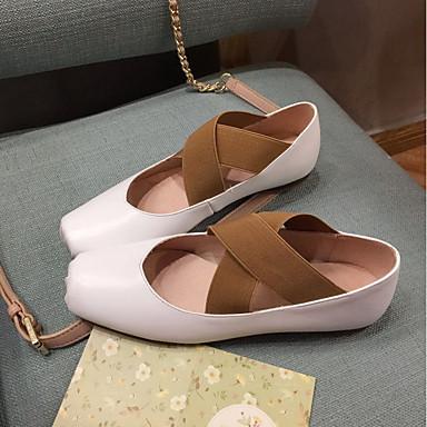 06863914 Confort Chaussures de Talon Peau Bas mouton Noir Ballerine Rose Ballerines Femme Blanc Eté gfqXOXB