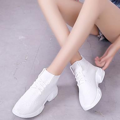 rond d'Athlétisme Chaussures Chaussures Femme Automne Bout Talon Blanc Plat Rouge 06848080 Noir Confort Marche Polyuréthane gxvxBwq1R