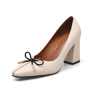 Bottier Cuir Chaussures Confort Talon Basique Noir Chaussures Femme 06857326 Automne Talons Amande à Escarpin qBCSTTv5w