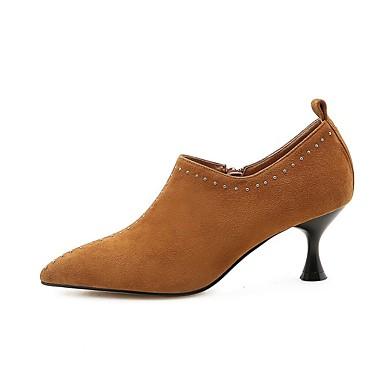 Escarpin Marron 06863806 Chaussures Chaussures à Basique Automne Noir Daim Talon Aiguille Talons Femme t7POqaS