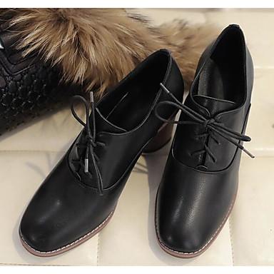 Printemps Femme Basique Chaussures Nappa Cuir amp; Blanc Bottier Noir Automne Oxfords Escarpin 06850187 Talon Confort qwrFw4t