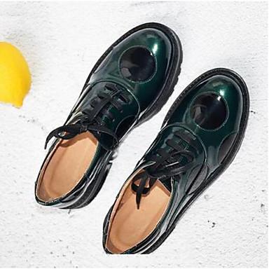 Véronèse Femme Creepers Cuir Chaussures Confort Eté Nappa Vert Noir 06841779 fermé Bout Oxfords Printemps B57RnZqrB