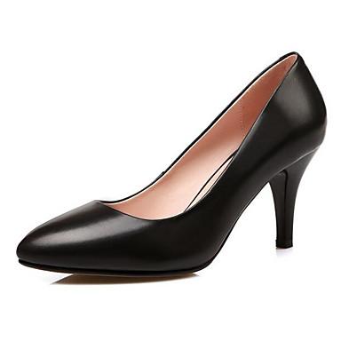 Noir Chaussures Chaussures Aiguille Cuir Talon Printemps Nappa Escarpin Basique 06864633 Femme Rouge à Talons xCwPaqYa