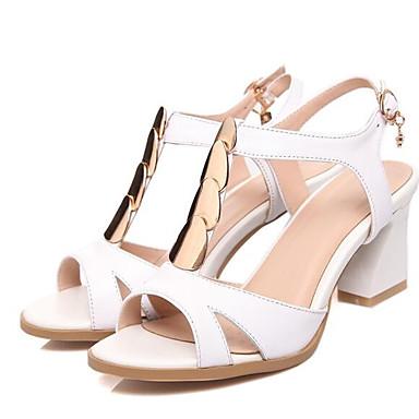 Rouge Bottier Sandales 06862639 Noir Blanc Nappa Printemps Cuir Chaussures Femme Confort Talon w1qv0ffx