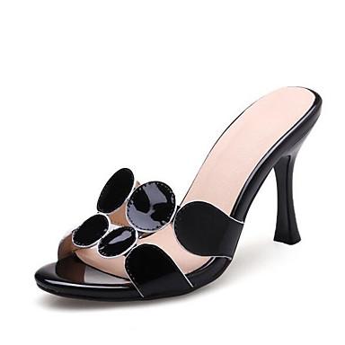 Sandales Eté Aiguille Cuir Chaussures Talon Confort Femme 06864625 Noir Blanc Nappa Xaq6nxnP