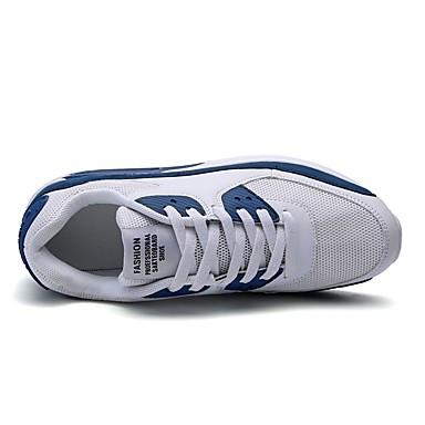 rond Eté Rubans Marche Bout 06858877 Chaussures d'Athlétisme Blanc Plat Talon Confort Bleu Femme à Pied Polyuréthane Chaussures Noir Course Maille ngZqXx1xB